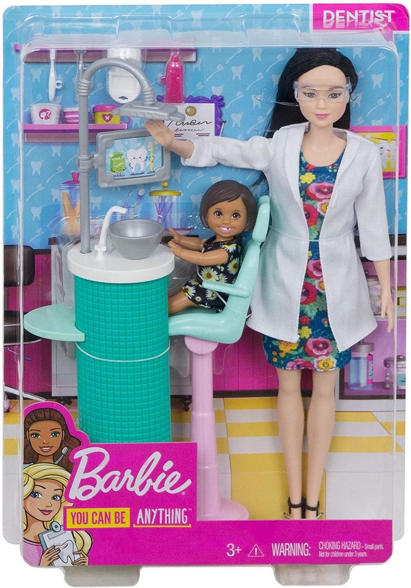Barbie Cariere Set Mobilier Cu Papusa Doctor Stomatolog