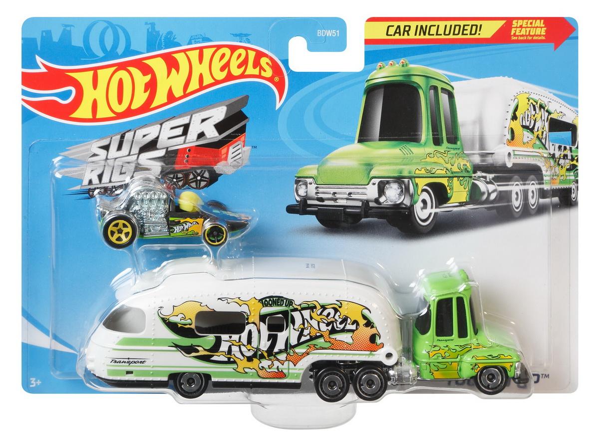 Set Camion Si Masina Sport Hot Wheels Tooned Up
