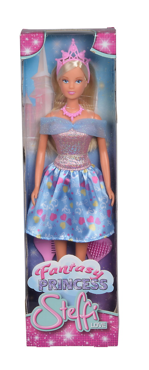 Papusa Steffi Fantasy Princess Cu Rochita Bleu