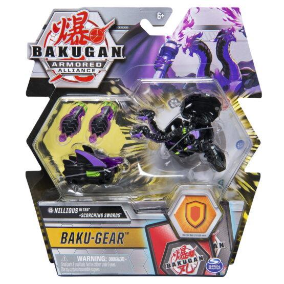 Bakugan S2 Bila Ultra Nillious Cu Echipament Baku-gear Scorching Swords
