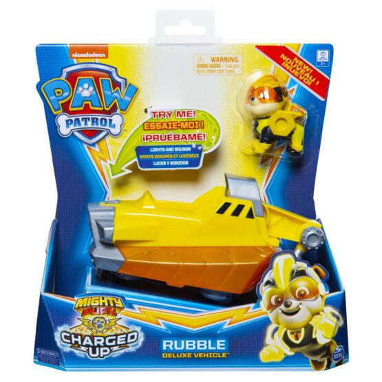 Patrula Catelusilor Vehicul Cu Figurina Rubble Sunete Si Lumini
