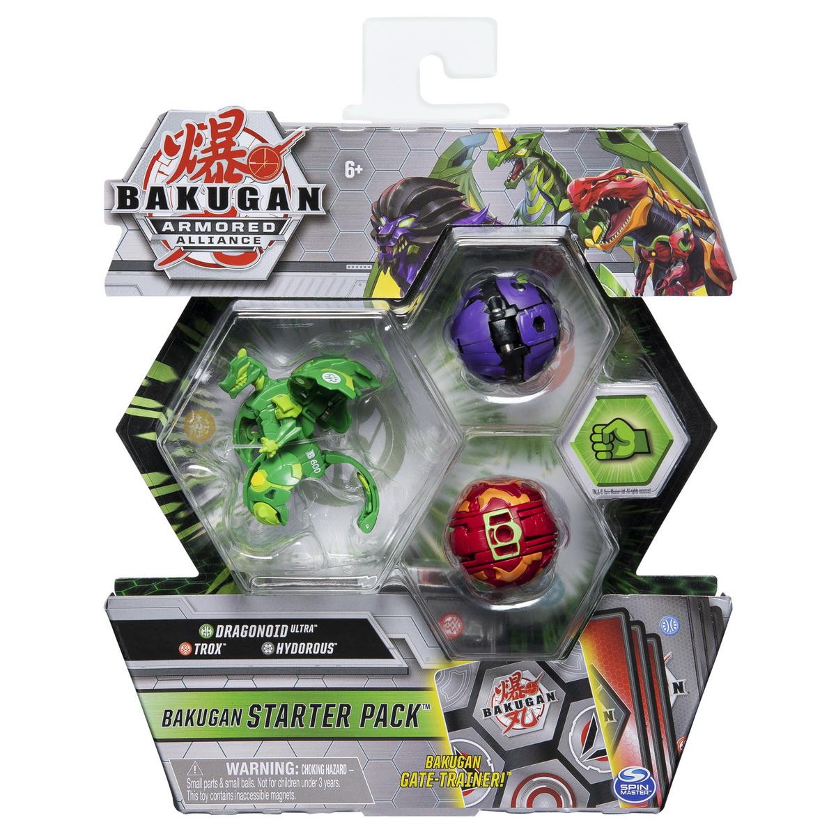 Bakugan S2 Pachet De Start Trox Hydorous Si Dragonoid Ultra