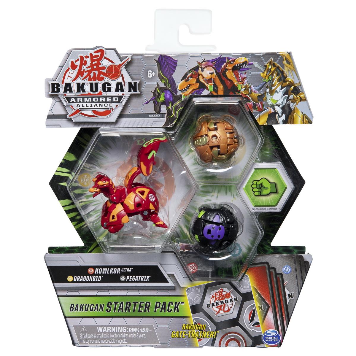 Bakugan S2 Pachet De Start Dragonoid Howlkor Si Pegatrix Ultra