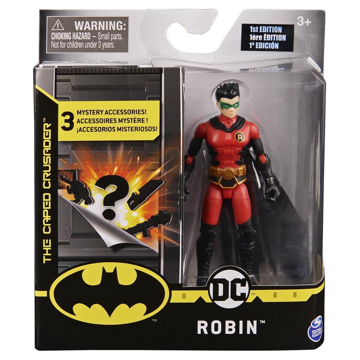 Figurina Robin Flexibila 10cm Cu 3 Accesorii Surpriza