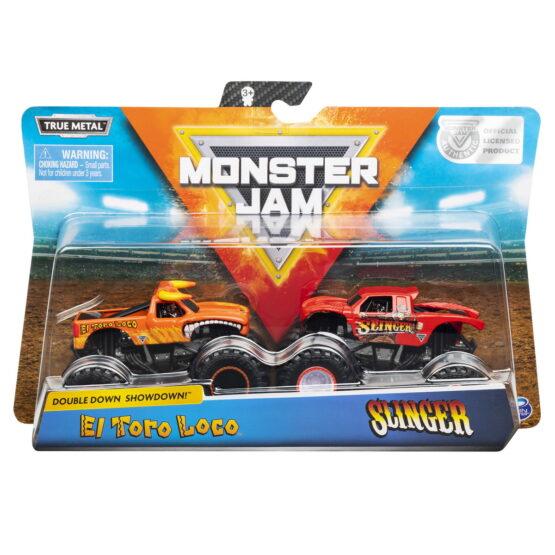 Monster Jam Set 2 Machete Metalice El Toro Loco Si Slinger
