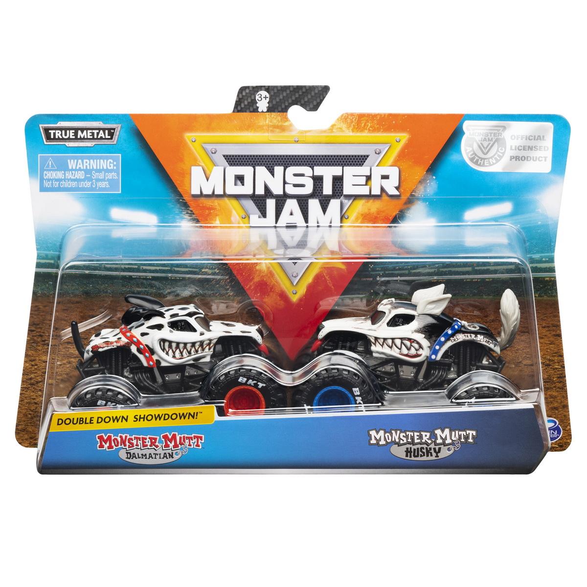 Monster Jam Set 2 Machete Monster Mutt Dalmatianul Si Husky