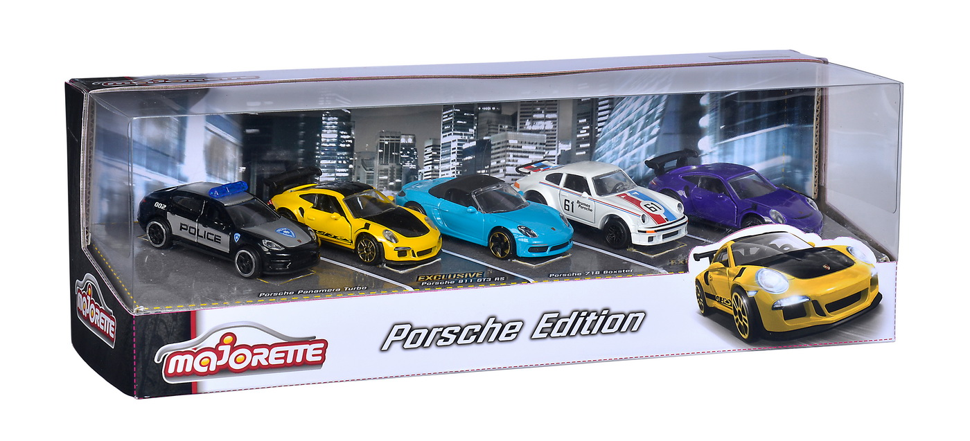Set 5 Masinute Metalice Porsche Cu Suspensii