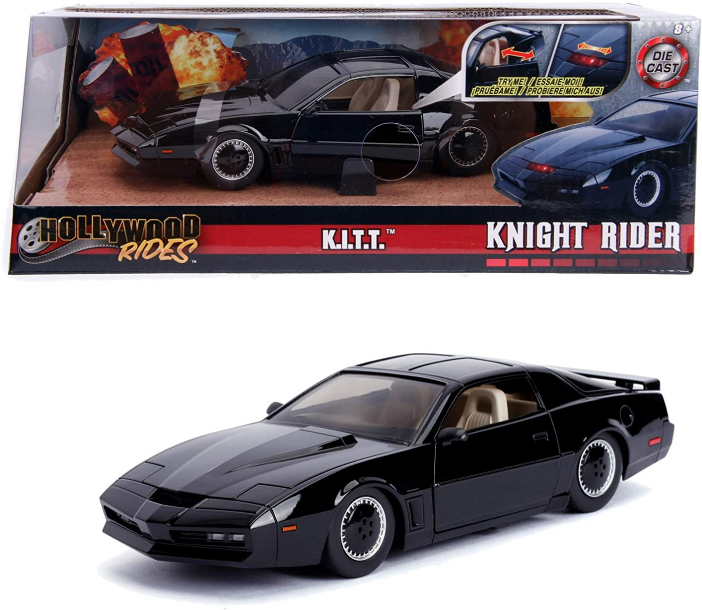 Masinuta Metalica Kitt Knight Rider Pontiac 1982 Trans Am