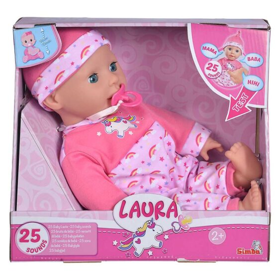 Papusa Bebelus Laura 38cm Cu Sunete