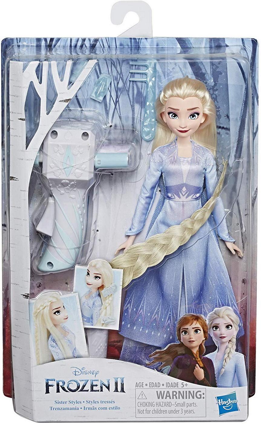 Papusa Frozen2 Elsa Cu Par Lung Pentru Impletit