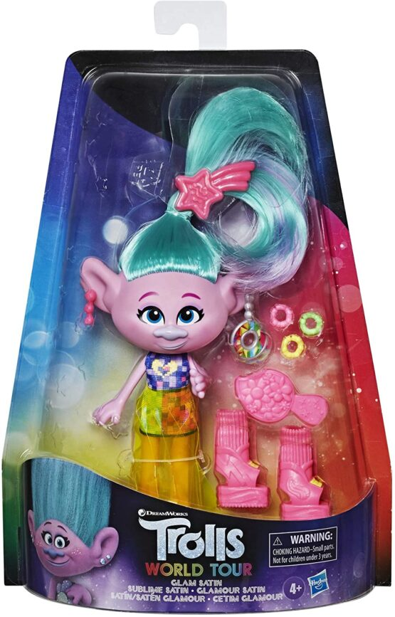 Trolls Papusa Satin Glam Deluxe Fashion