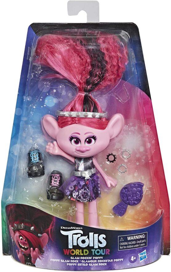 Trolls Papusa Poppy Rock Style Deluxe Fashion
