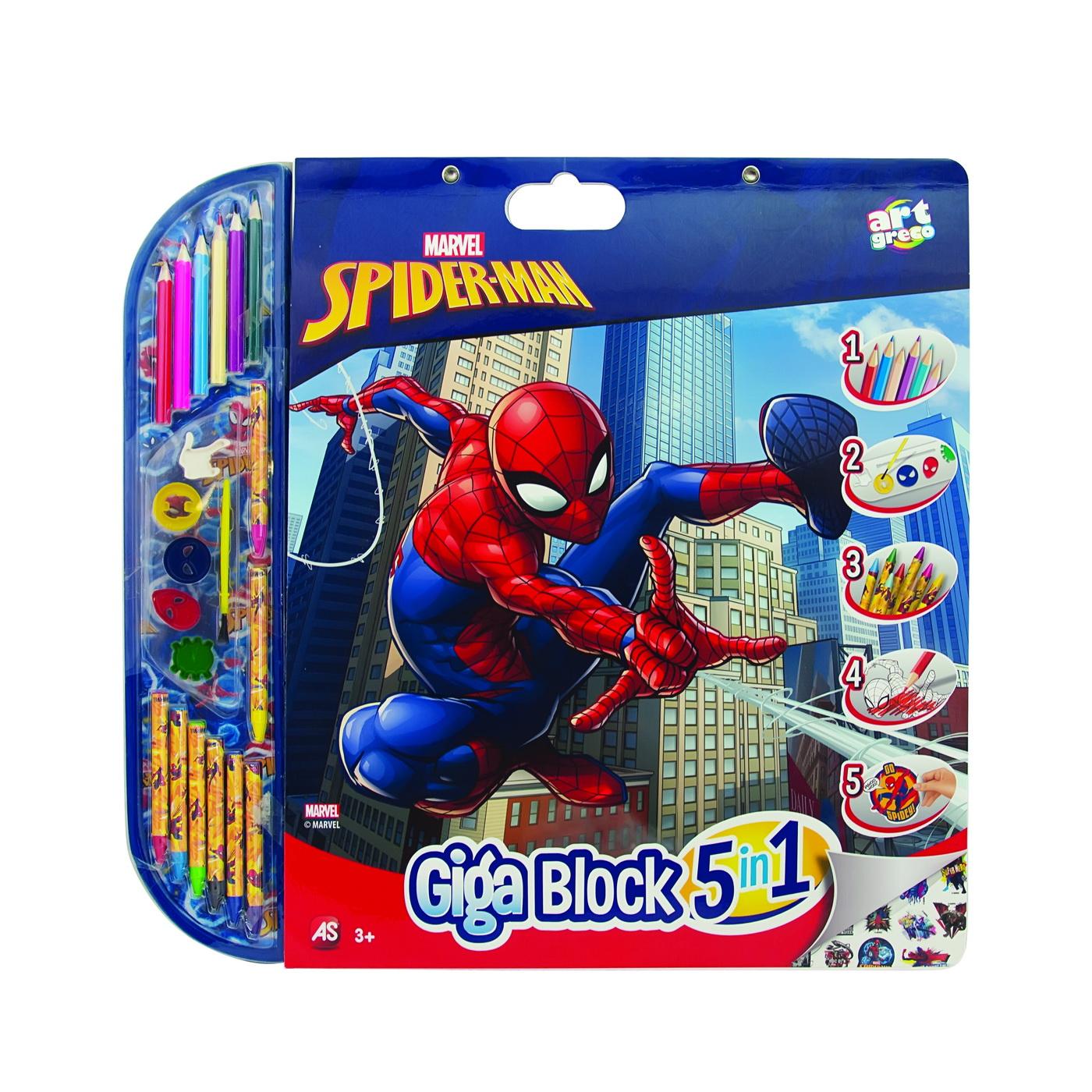 Set Pentru Desen 5in1 Gigablock Spider-man