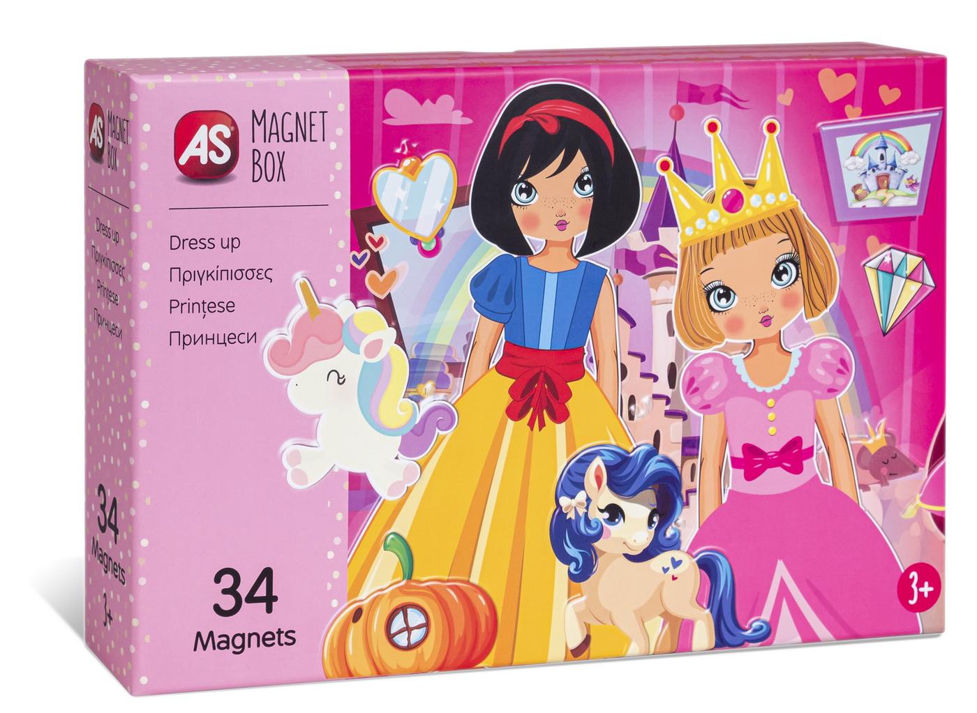 Cutie Magnetica Imbraca Printesele Cu 34 De Piese