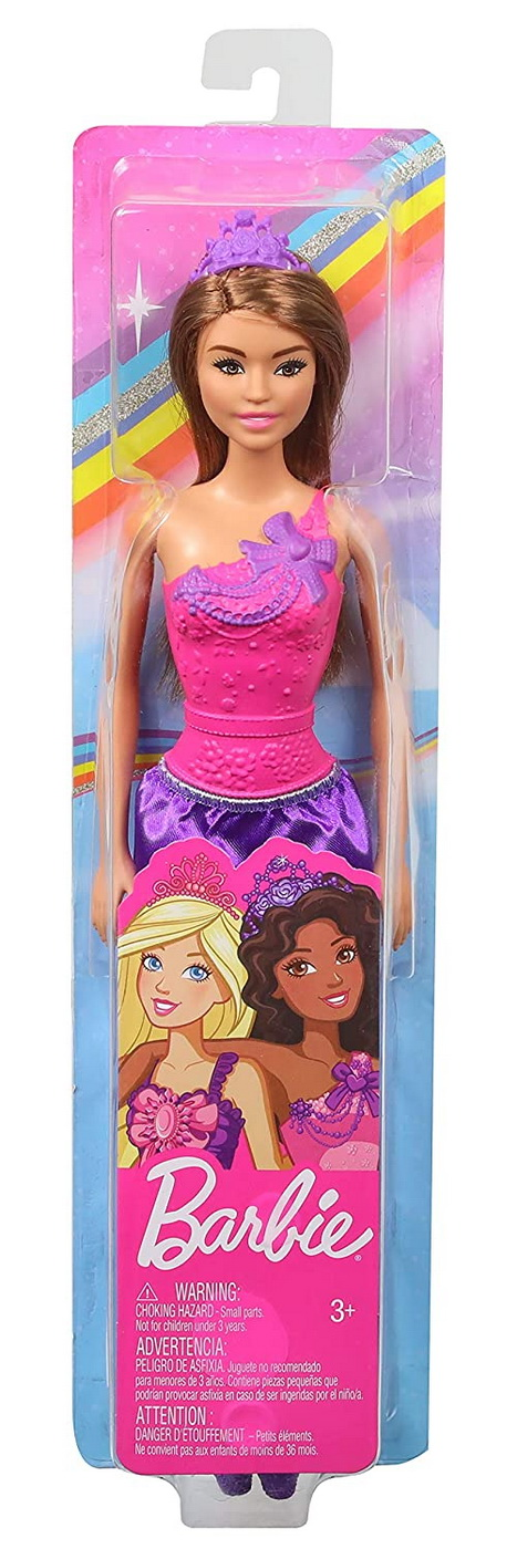 Barbie Papusa Printesa Cu Rochita Mov