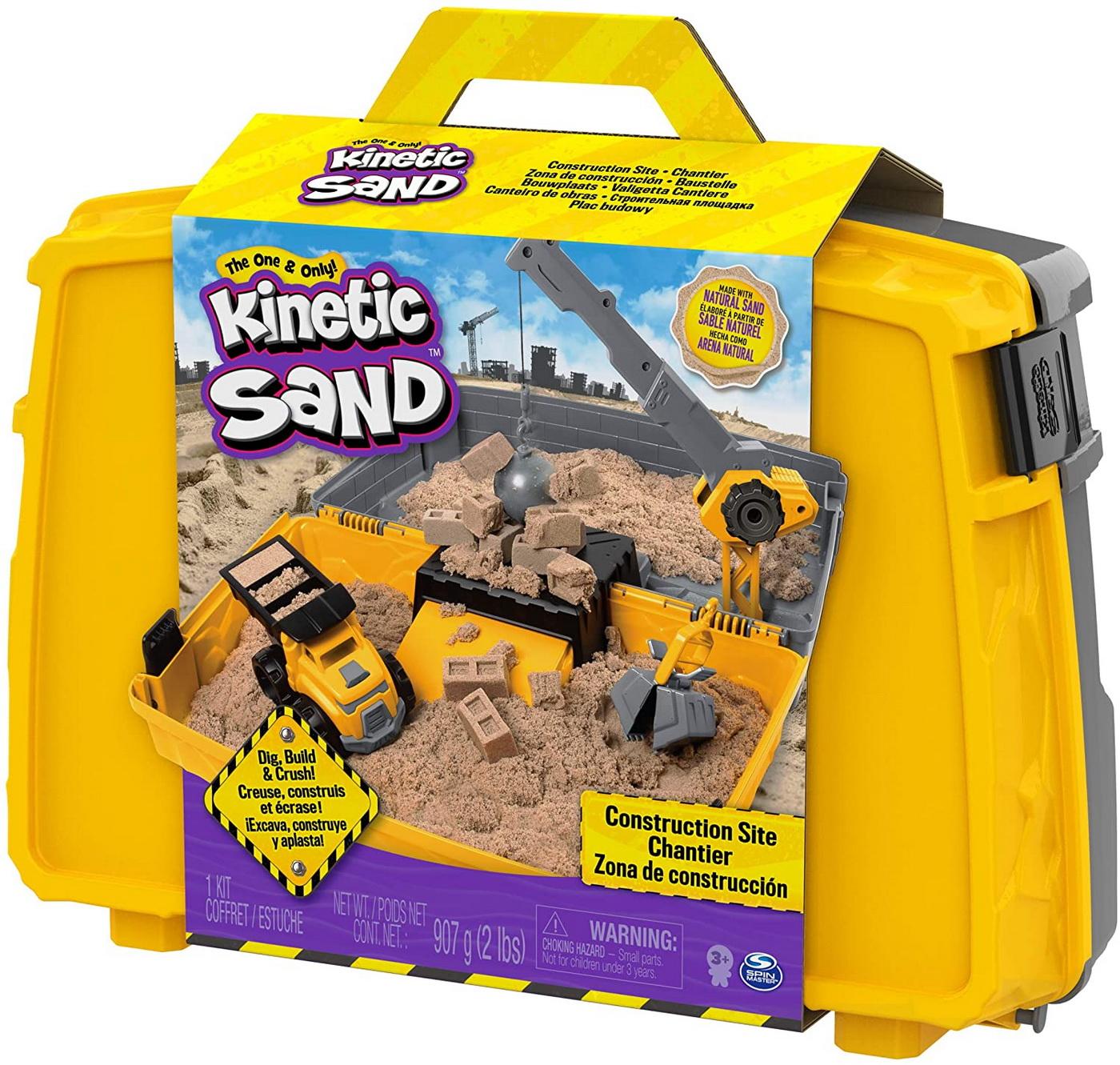 Kinetic Sand Set Excaveaza Construieste Si Demoleaza In Cutie Cu Maner