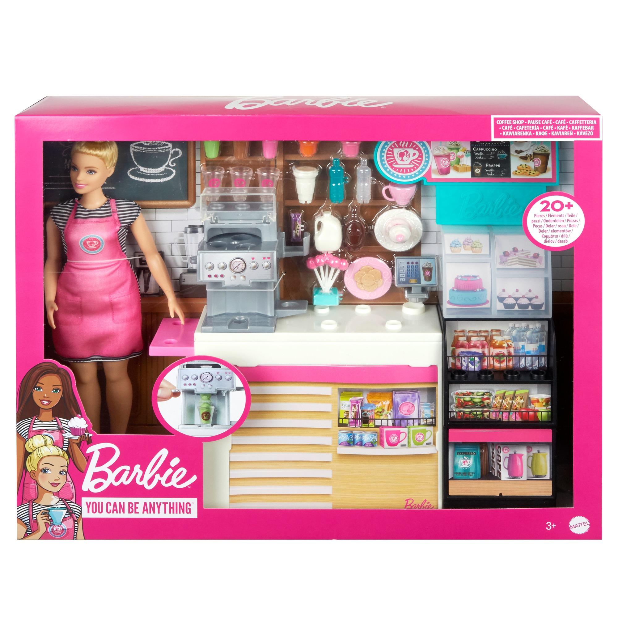 Barbie  Set Cafenea Cu 20 De Accesorii