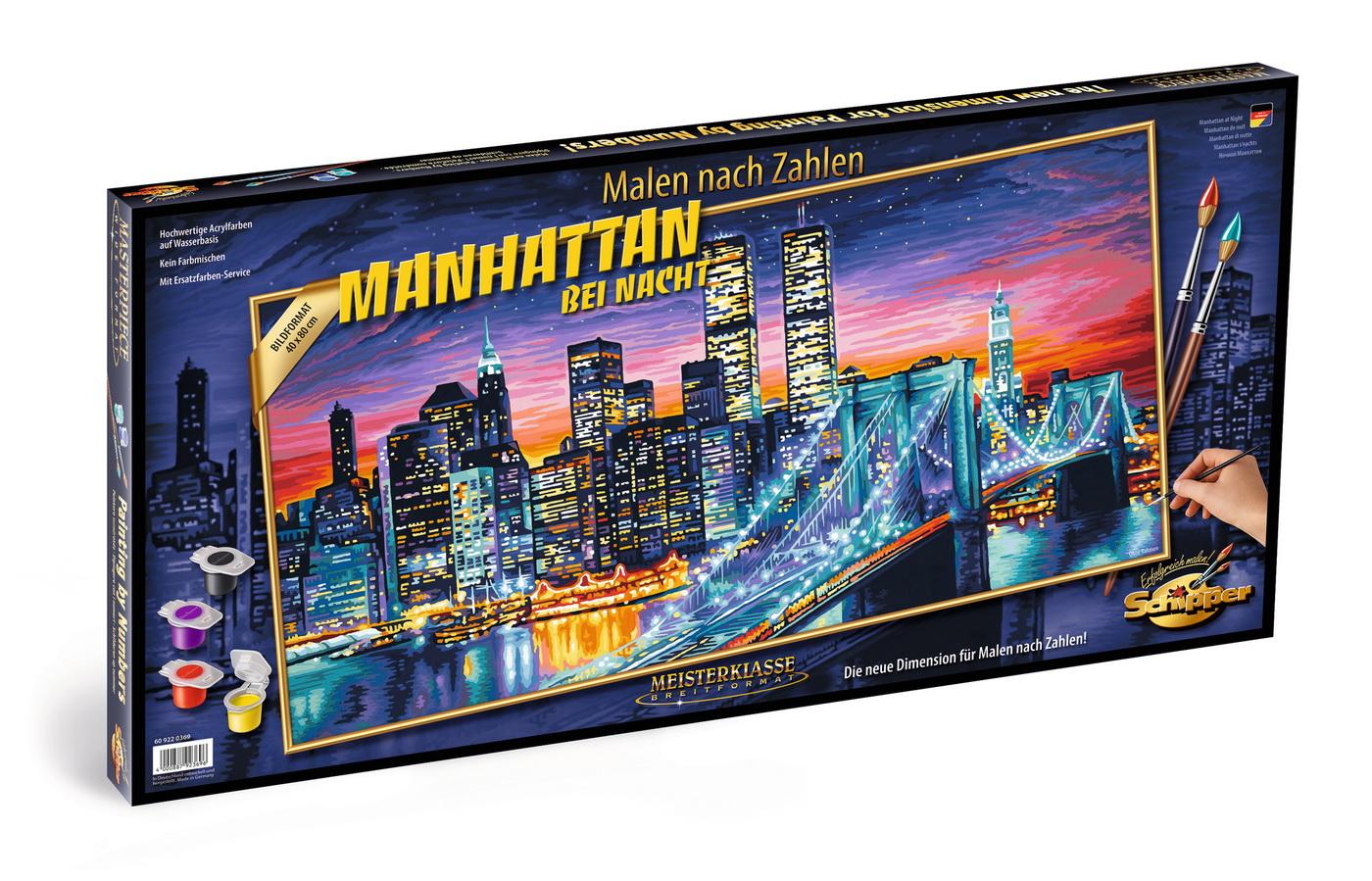 Kit Pictura Pe Numere Schipper Manhattan Noaptea
