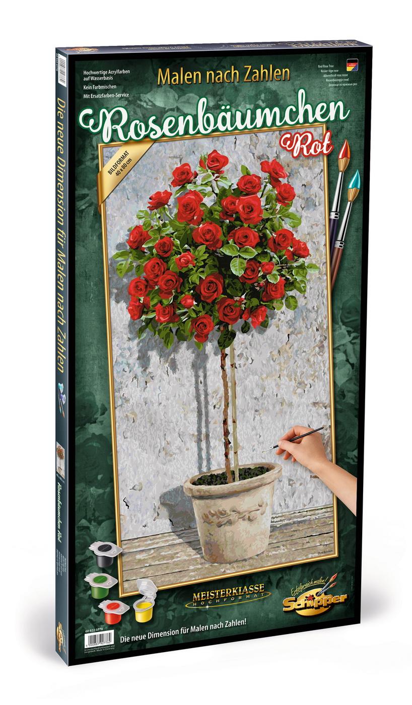 Kit Pictura Pe Numere Schipper Trandafir In Ghiveci