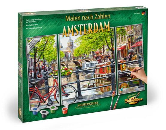 Kit Pictura Pe Numere Schipper Amsterdam Olanda, 3 Tablouri