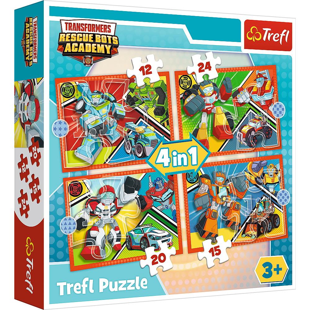 Puzzle Trefl 4in1 Academia Robotilor Transformers
