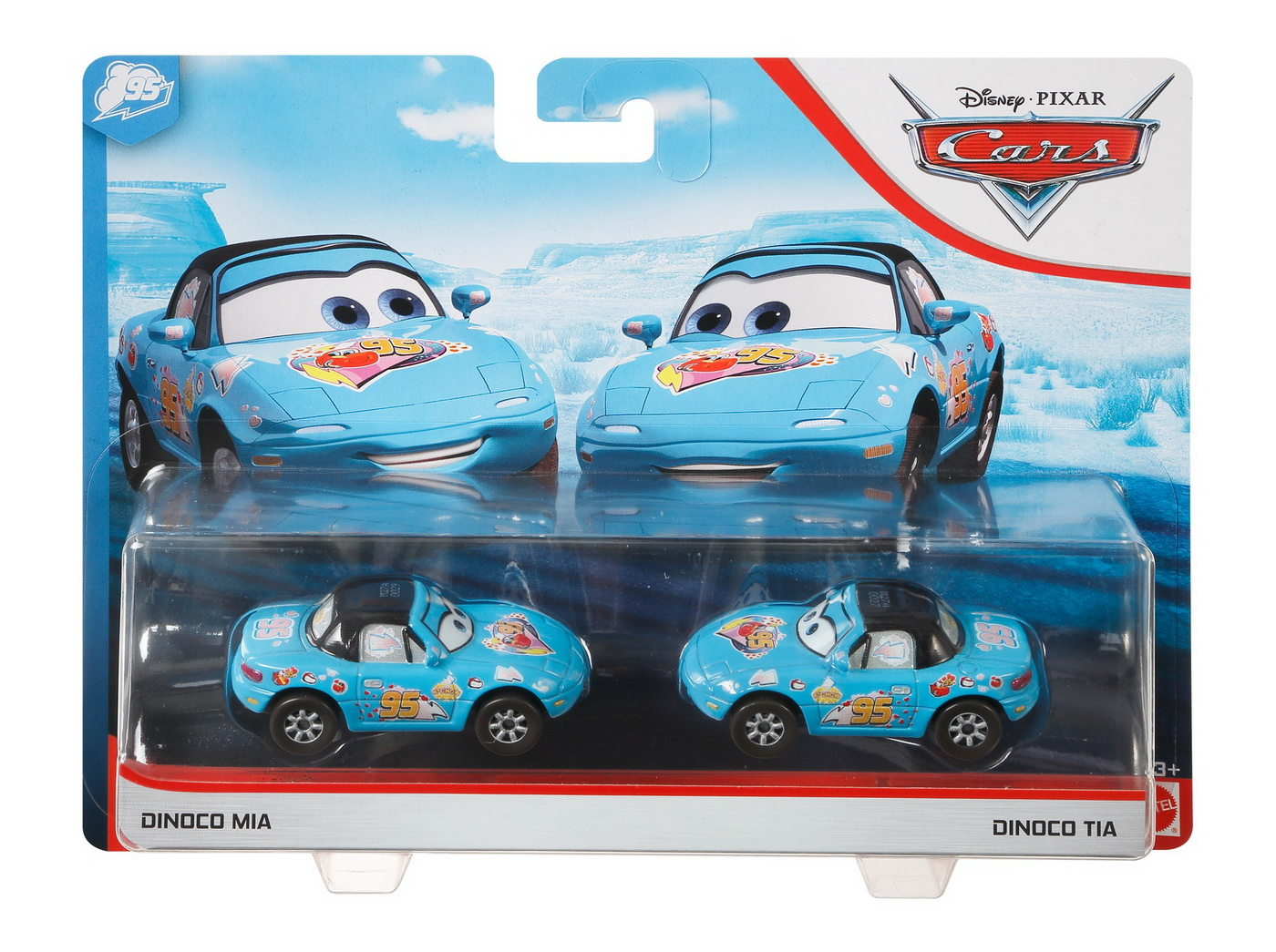Cars3 Set 2 Masinute Metalice Dinoco Mia Si Dinoco Tia