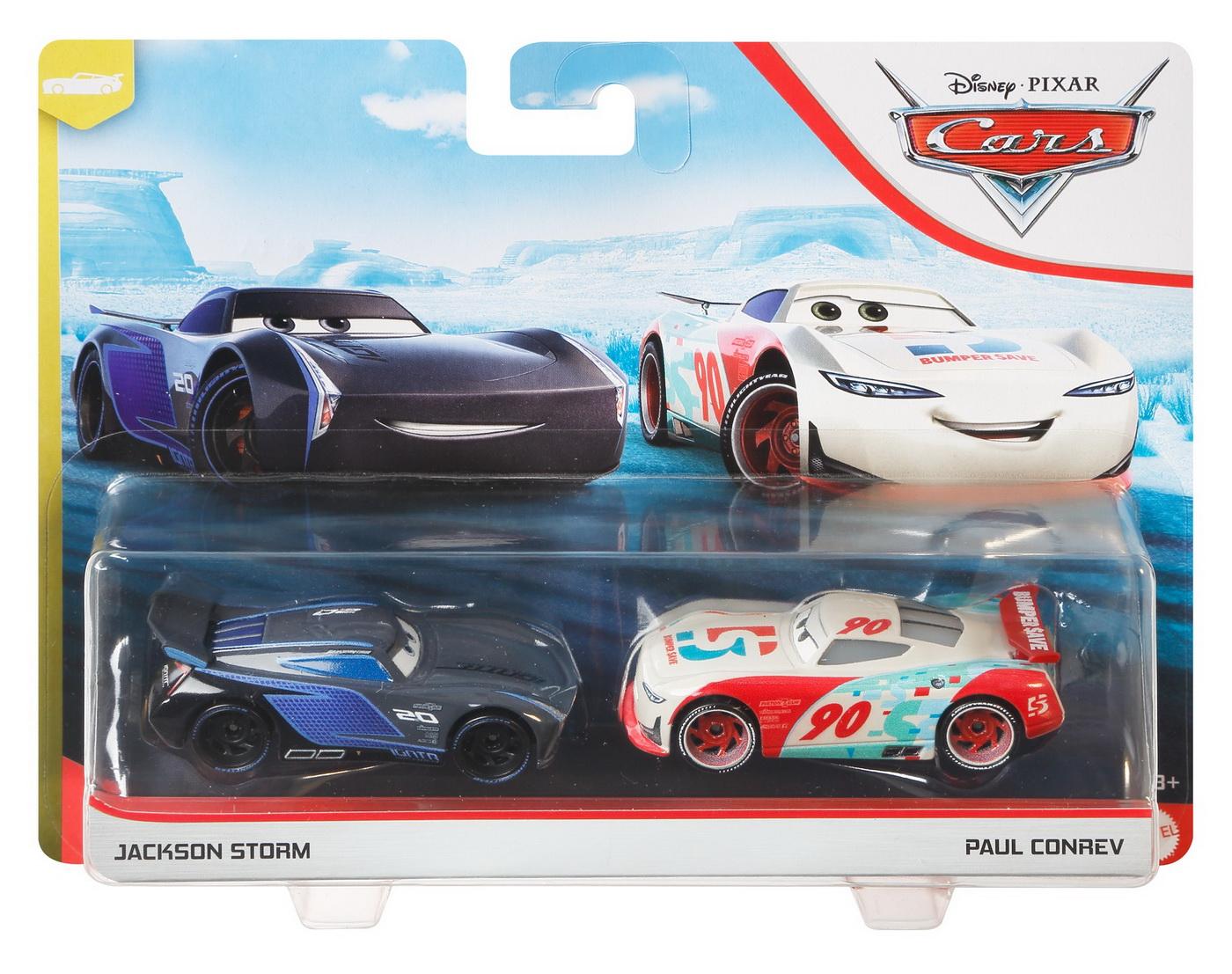 Cars3 Set 2 Masinute Metalice Jackson Storm Si Paul Conrev