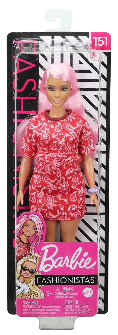 Papusa Barbie Fashionista Cu Parul Roz