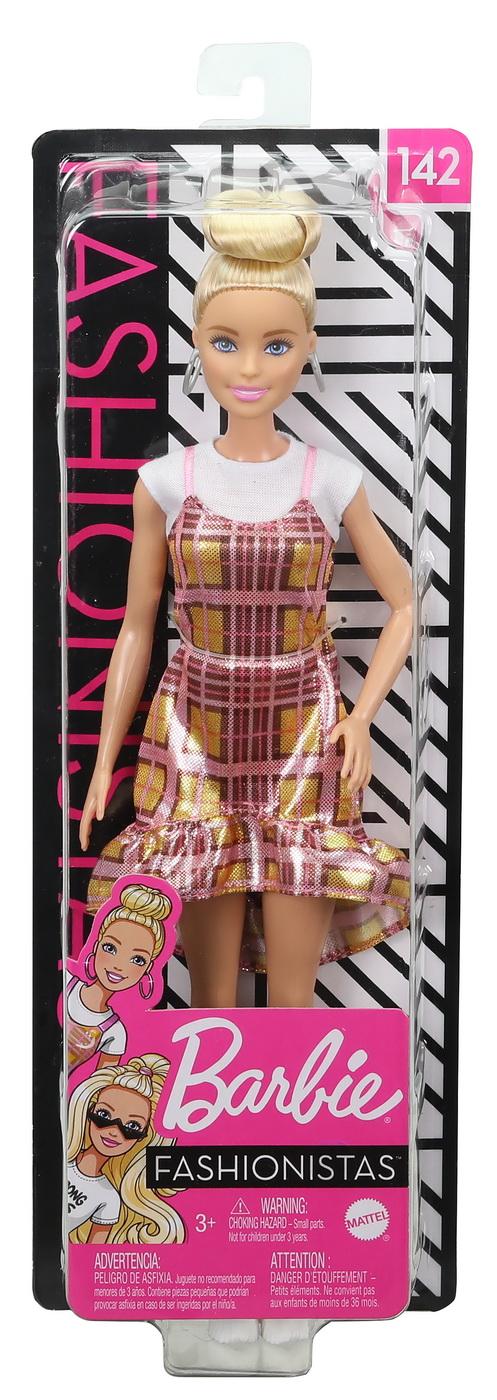 Papusa Barbie Fashionista Blonda Parul In Coc