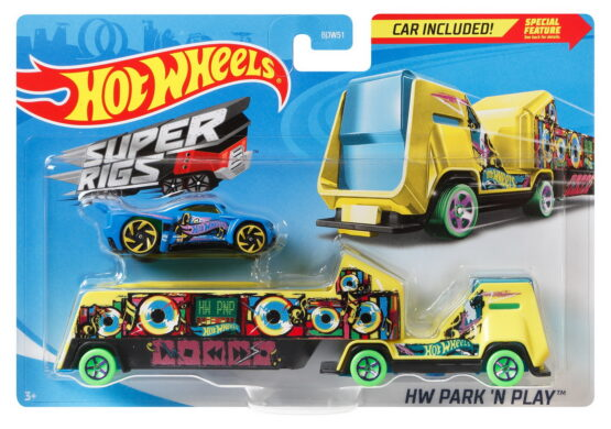 Set Camion Si Masina Sport Hot Wheels Park And Play