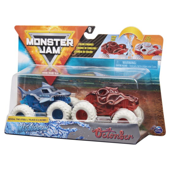 Monster Jam Set 2 Masinute Megalodon Si Octonber Color Change
