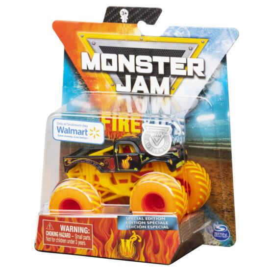 Monster Jam Masinuta Metalica Fire And Ice Personajul W
