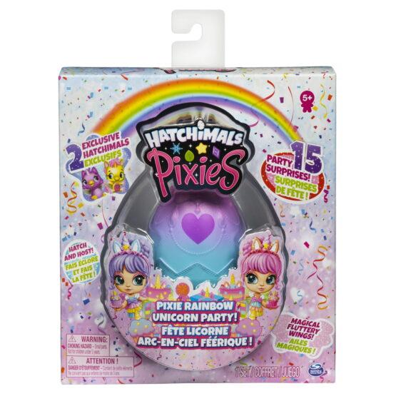 Pixies Set Papusa Cu 2 Hatchimals Surpriza Unicorn Party Si 15 Accesorii