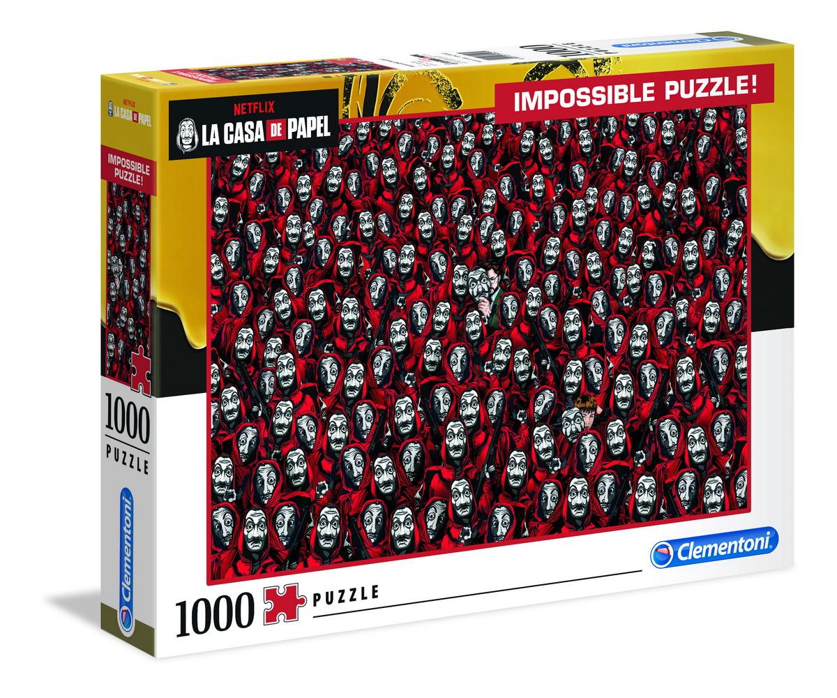 PUZZLE IMPOSSIBLE LA CASA DE PAPEL 1000 DE PIESE CLEMENTONI