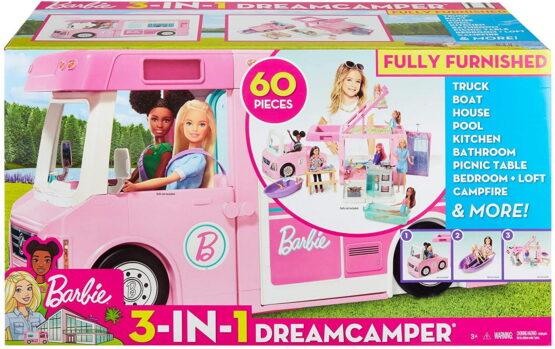 Barbie 3in1 Rulota De Vis Super Accesorizata Cu 60 De Piese