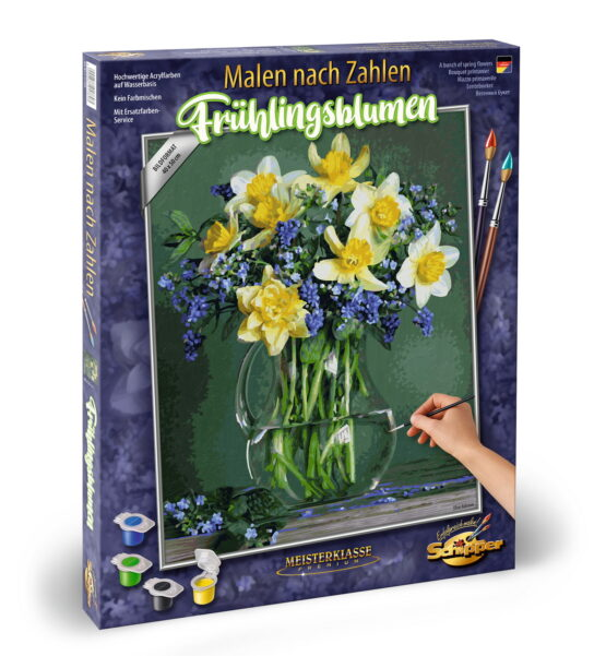 Kit Pictura Pe Numere Schipper Buchet Cu Flori De Primavara