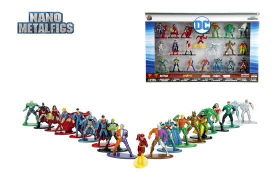 Set 20 De Figurine Metalice Cu Eroii Dc Si Figurina Flash Inclusa