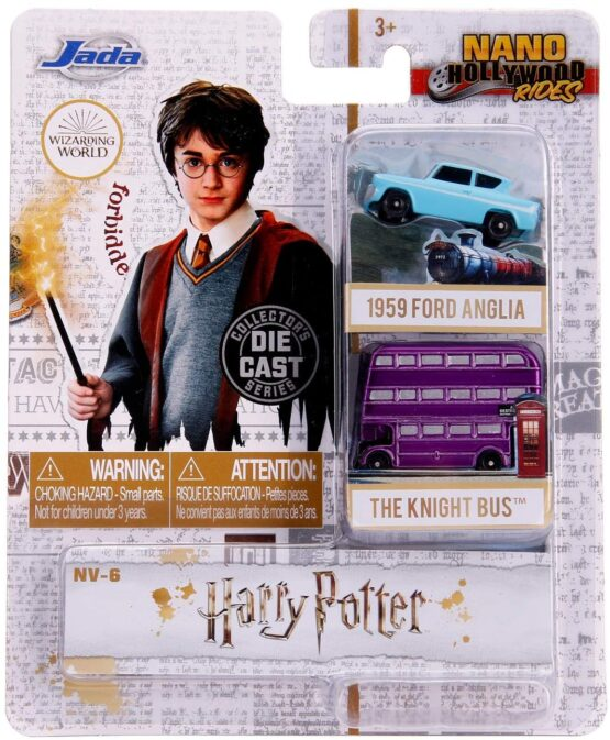 Harry Potter2 Set 2 Masinute The Knight Bus Si Ford Anglia 1959
