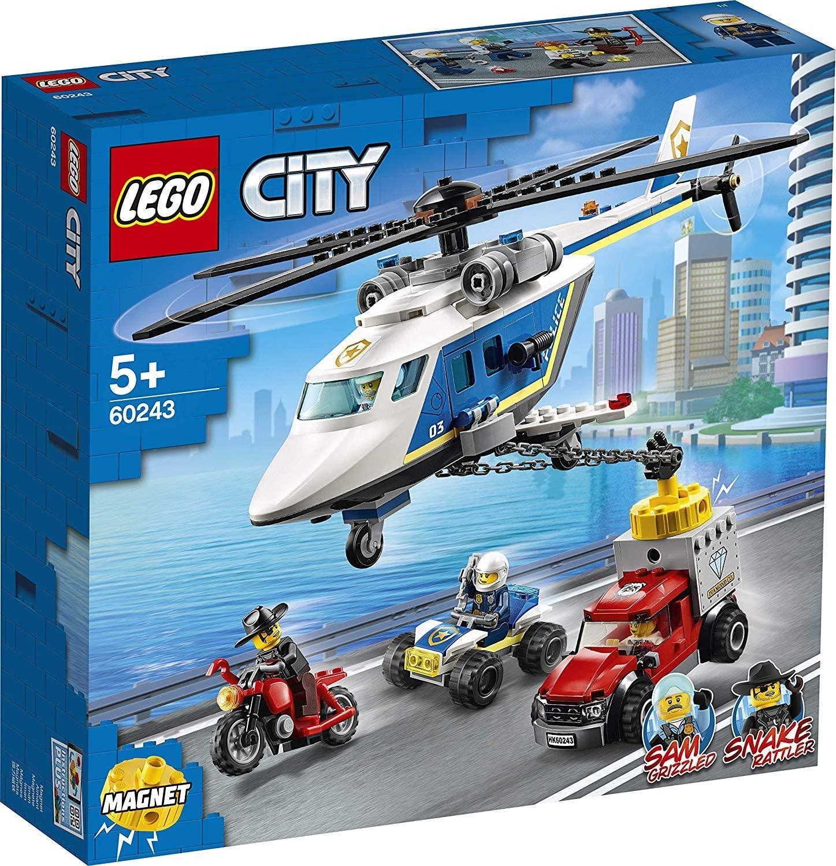 Lego City Urmarire Cu Elicopterul Politiei 60243