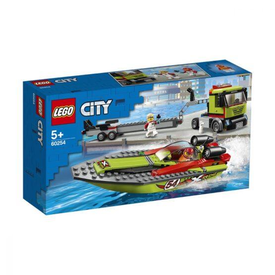 Lego City Transportor De Barca De Curse 60254