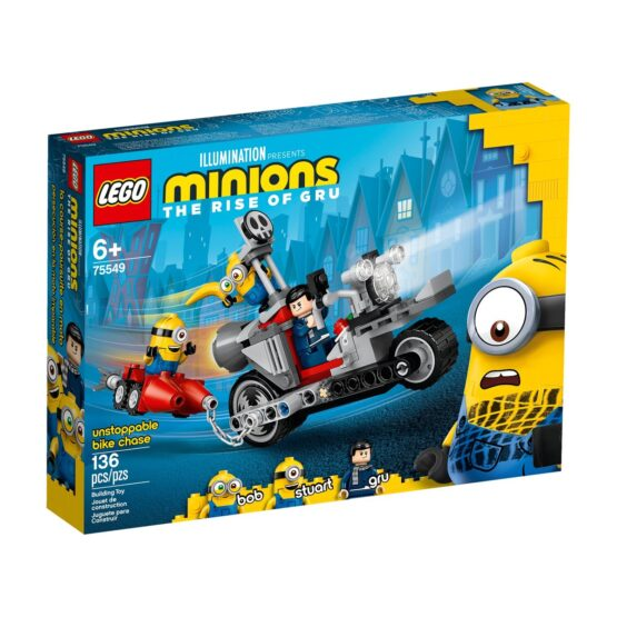 Lego Minions Urmarire De Neoprit Cu Motocicleta Tbc 75549