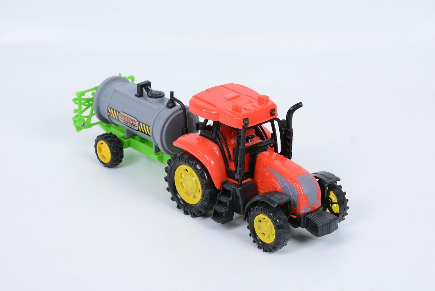 Tractor Cu Cisterna Frictiune Sunete Si Lumini