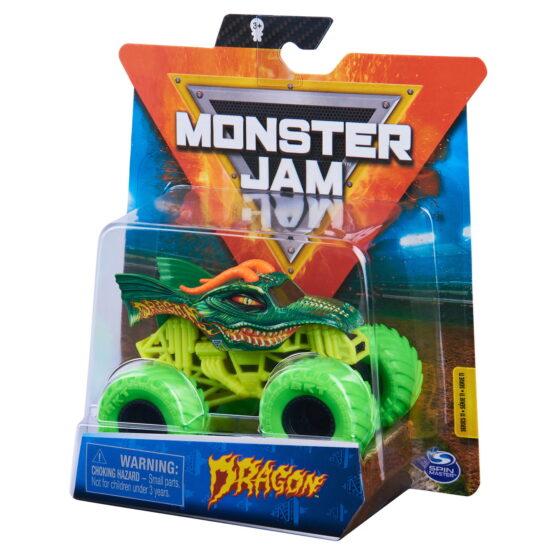 Monster Jam Masinuta Metalica Dragon Scara 1 La 64