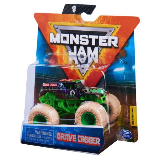 Monster Jam Masinuta Metalica Grave Digger Scara 1 La 64