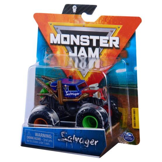 Monster Jam Masinuta Metalica Salvager Scara 1 La 64