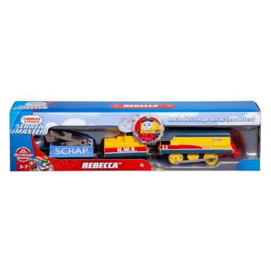 Thomas Locomotiva Rebecca Motorizata Cu 2 Vagoane