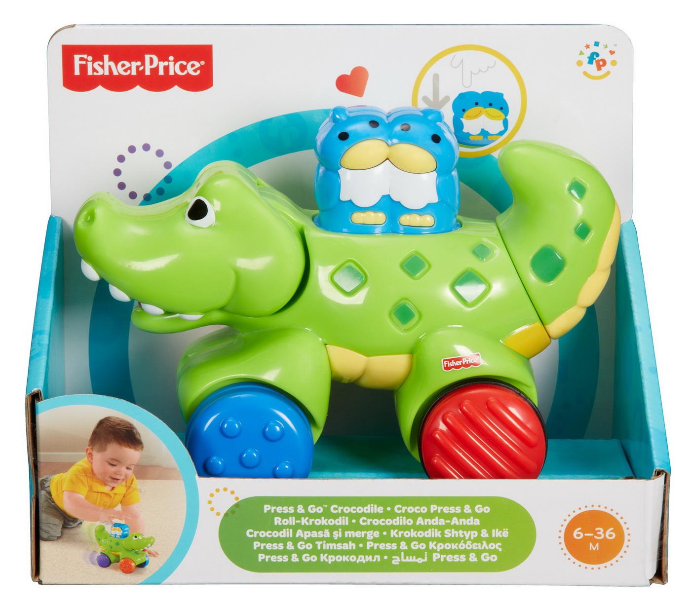 Fisher Price Jucarie Bebe Crocodil Press And Go