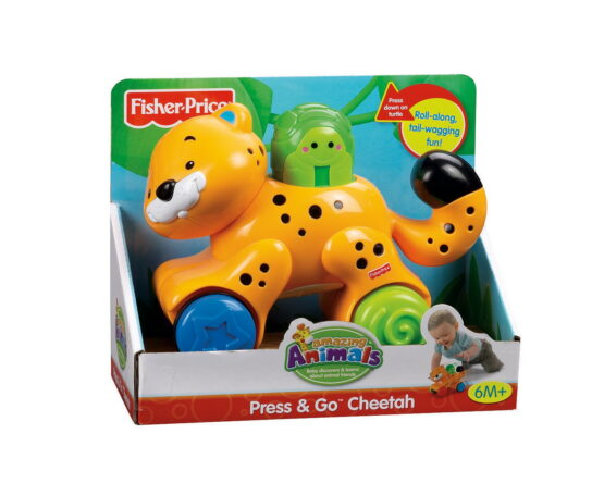 Fisher Price Jucarie Bebe Leopard Press And Go