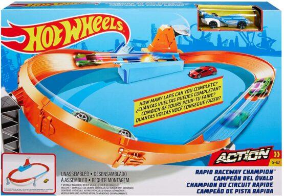 Hot Wheels Circuit Rapid Cu Lansator Si Masinuta Exclusiva