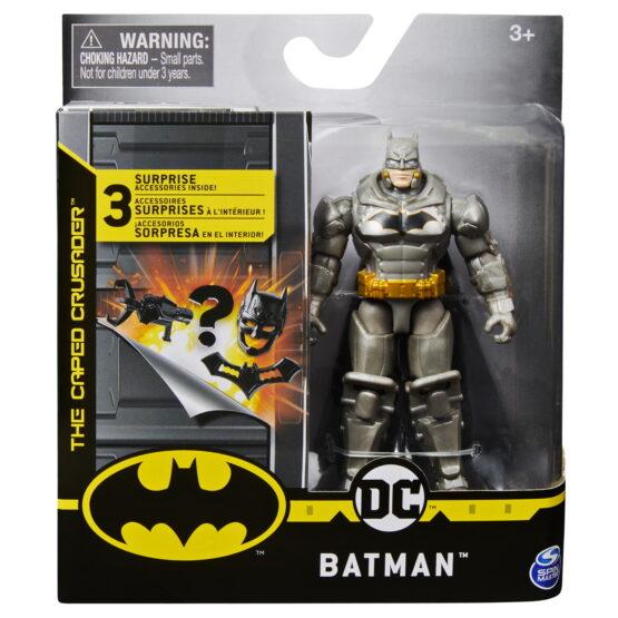 Figurina Batman In Costum Cu Armura 10cm Cu 3 Cate Accesorii